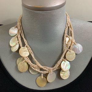 Vintage Real mother of pearl multi strand necklace